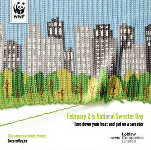 National Sweater Day Urban Poster  	© WWF-Canada