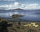 Bolivia's noted Lake Titicaca - contracting from one lake to three under current projections of climate change