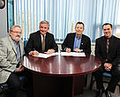 Robert Rangeley of WWF signing MOU with Marine Institute of Memorial University of Newfoundland